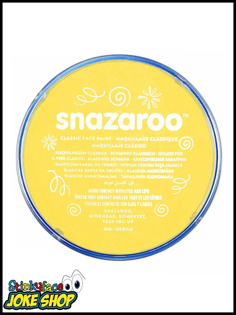 Snazaroo Face Paint- Yellow 18ml Tub