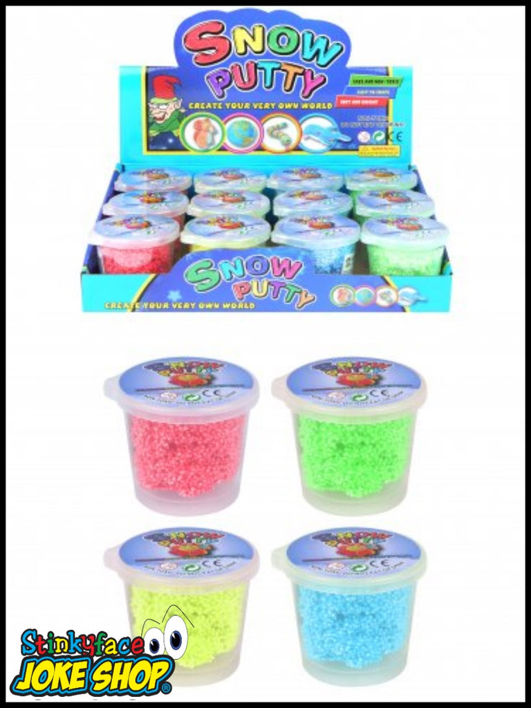 Bouncing Snow Putty Slime Tub