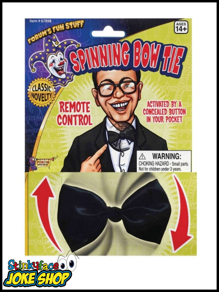 Spinning Black Novelty Bow Tie