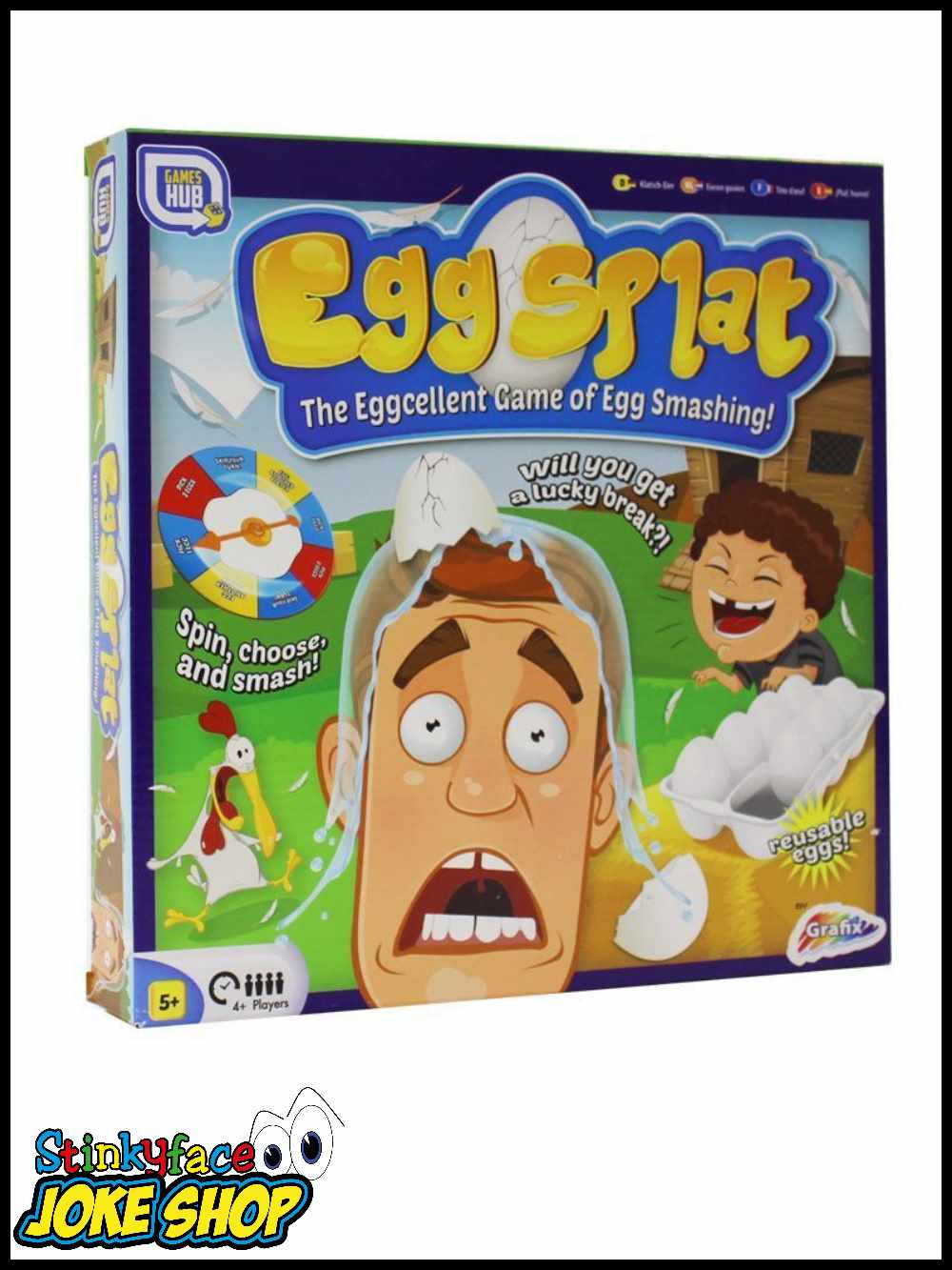 Splat Game Pie Face Fun Games Board Inspired Family Drinking ...
