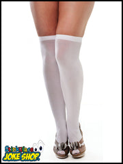 Stockings. White Over Knee