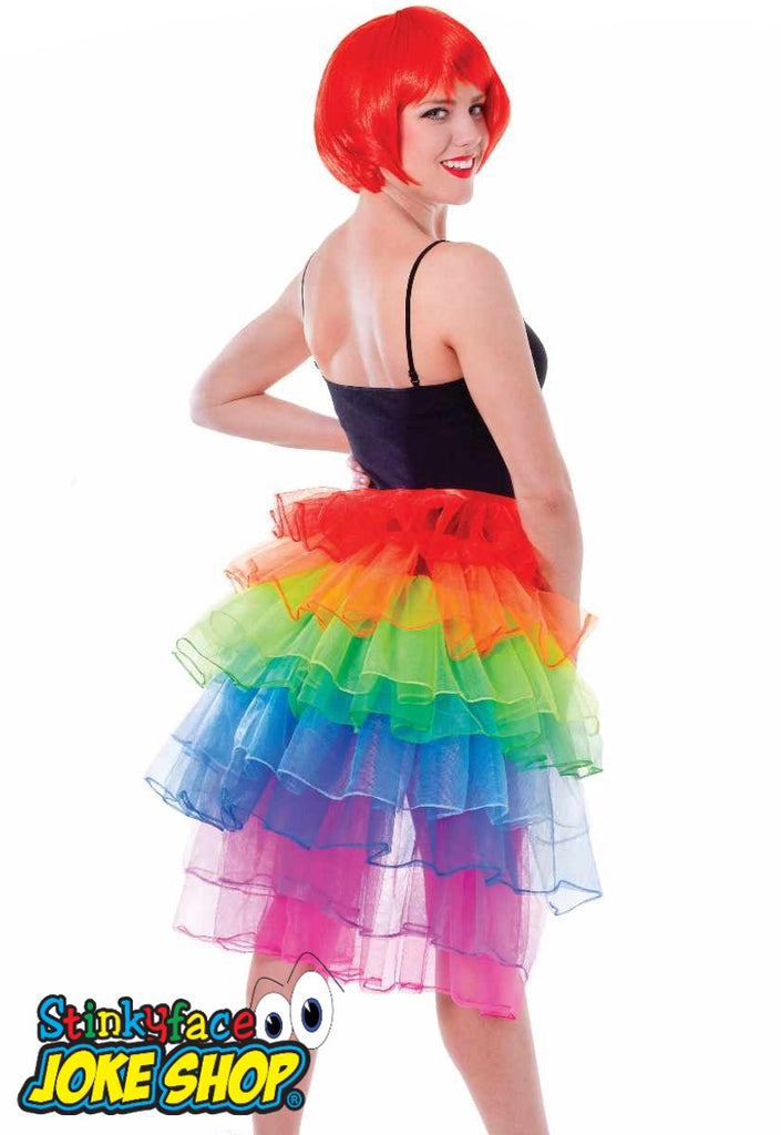 Adult Bustle Rainbow Skirt