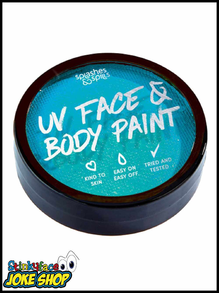 UV Face & Body Cake Paint Blue 18g