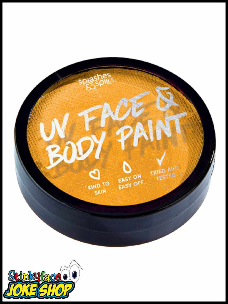 UV Face & Body Cake Paint Orange 18g