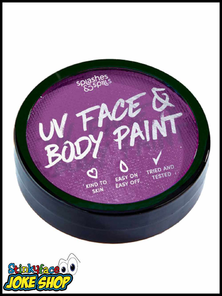 UV Face & Body Cake Paint Purple 18g
