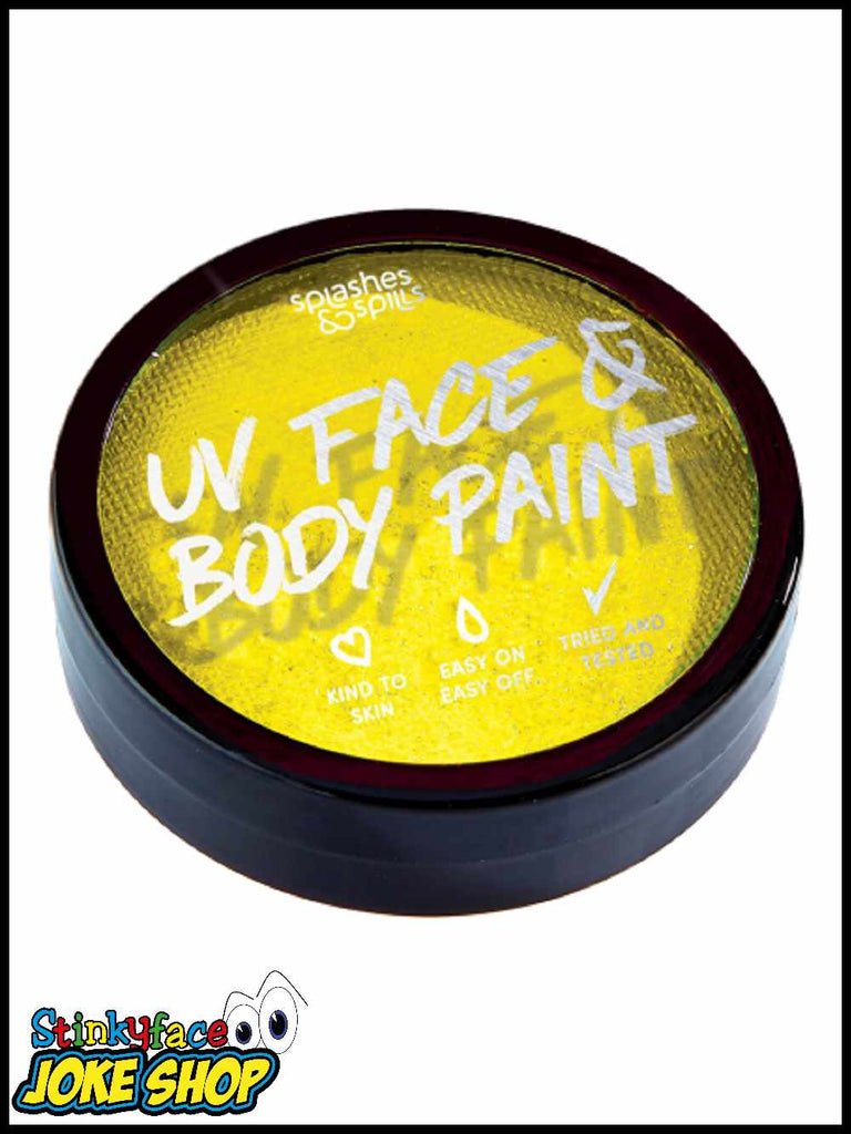 UV Face & Body Cake Paint Yellow 18g
