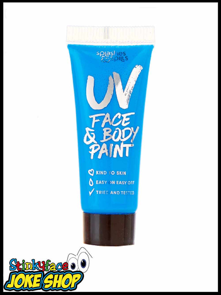 UV Face & Body Paint Tube - Blue