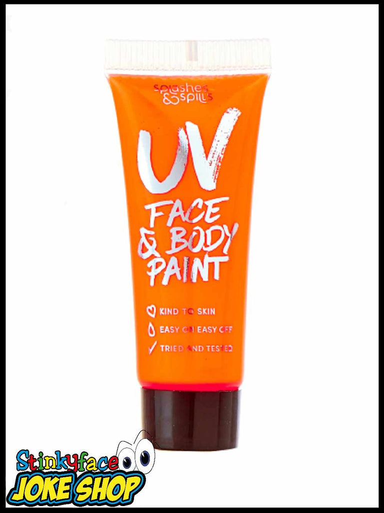 UV Face & Body Paint Tube - Orange