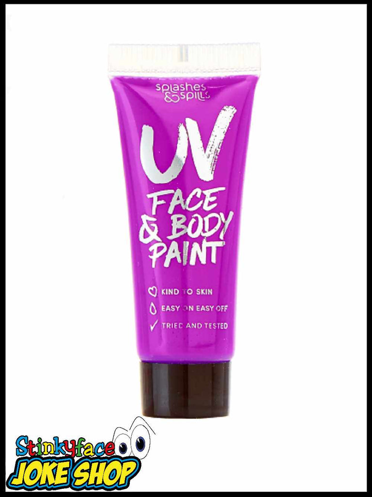 UV Face & Body Paint Tube - Purple