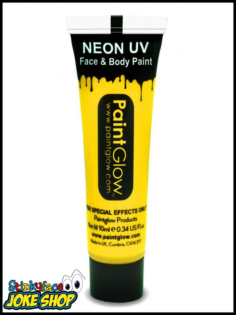 Yellow UV Neon Face & Body Paint 13ml