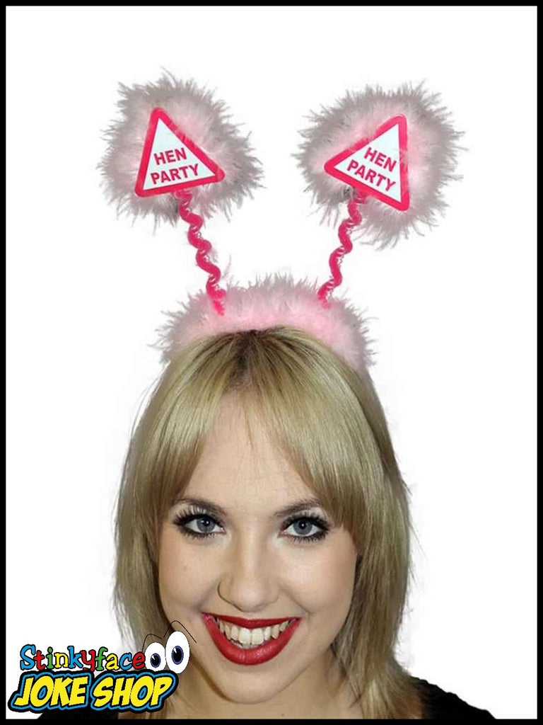 Warning Boppers Hen Party Pink