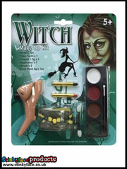 Witch Makeup Kit with Nose & Teeth