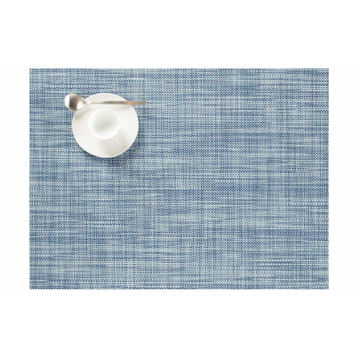 Spisebrikke mini basketweave chambray