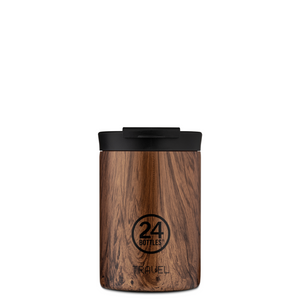 Termokopp fra 24Bottle, take away Seqoia Wood