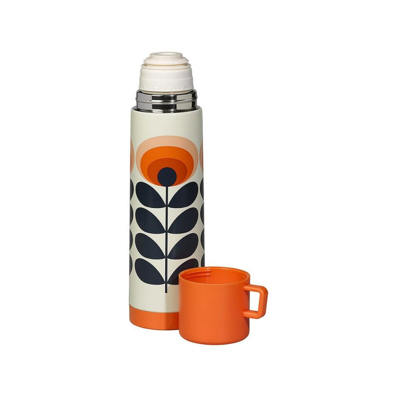 Termos - Orla Kiely - Flower Orange, Retro - R8 Design