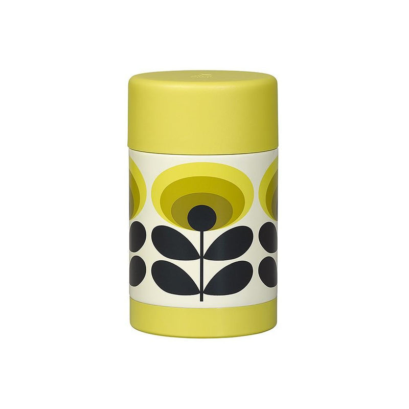 Termos til mat, 70s Oval Flower, Yellow - R8 Design