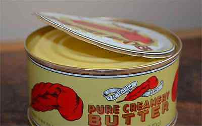 RED FEATHER CANNED PURE CREAMERY BUTTER 2 CANS emergency camping food