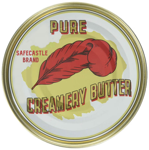 Safecastle's Red Feather Cremery Canned Butter A real butter from new Zealand-100% pure no artificial colors or flavors-Great For Hurricane Preparedness Emergency Survival Earthquake Kit-(6 Cans/12Oz. Each Can)
