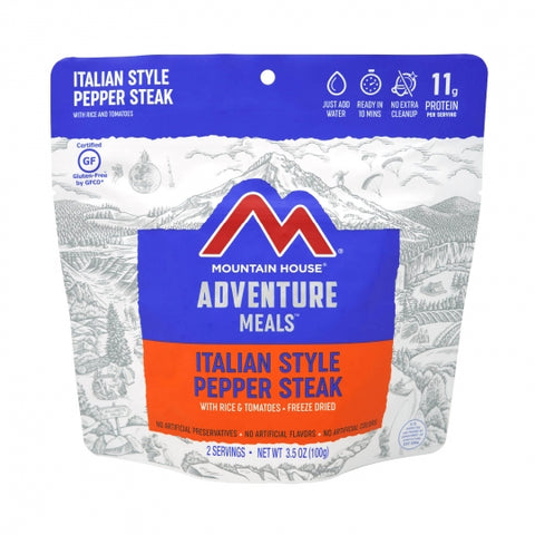 Mountain House Italian Style Pepper Steak Clean Label Freeze Dried Food 6 Pouches