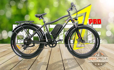 Breeze Pro Fat-Tire Electric Bike 750W,48V, Matte Black