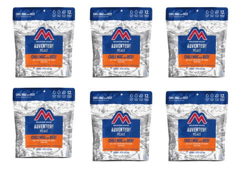 Mountain House Chili Mac with Beef, Entree Pouches (6 Pouches/case) CLEAN LABEL