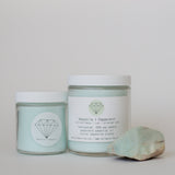 AMAZONITE + PEPPERMINT {100% soy crystal candle}
