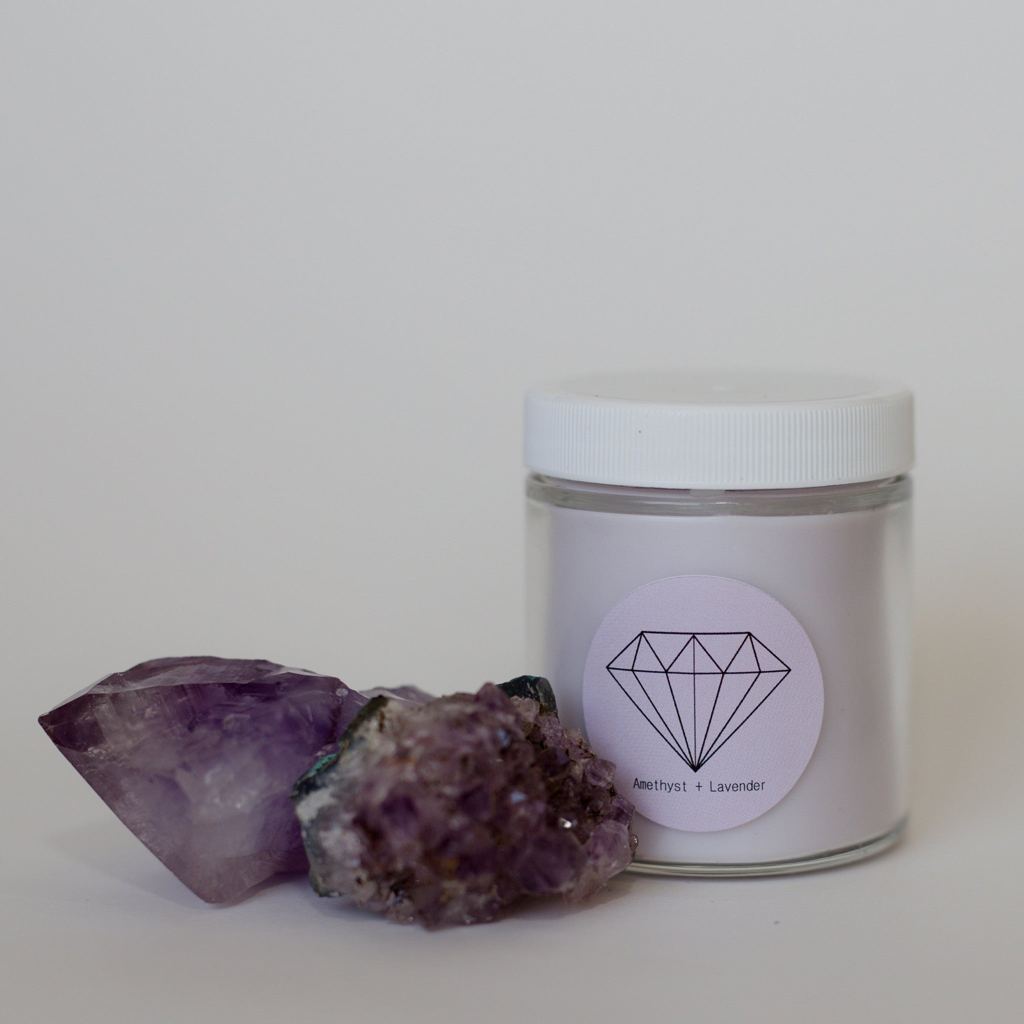 AMETHYST + LAVENDER {100% soy crystal candle}