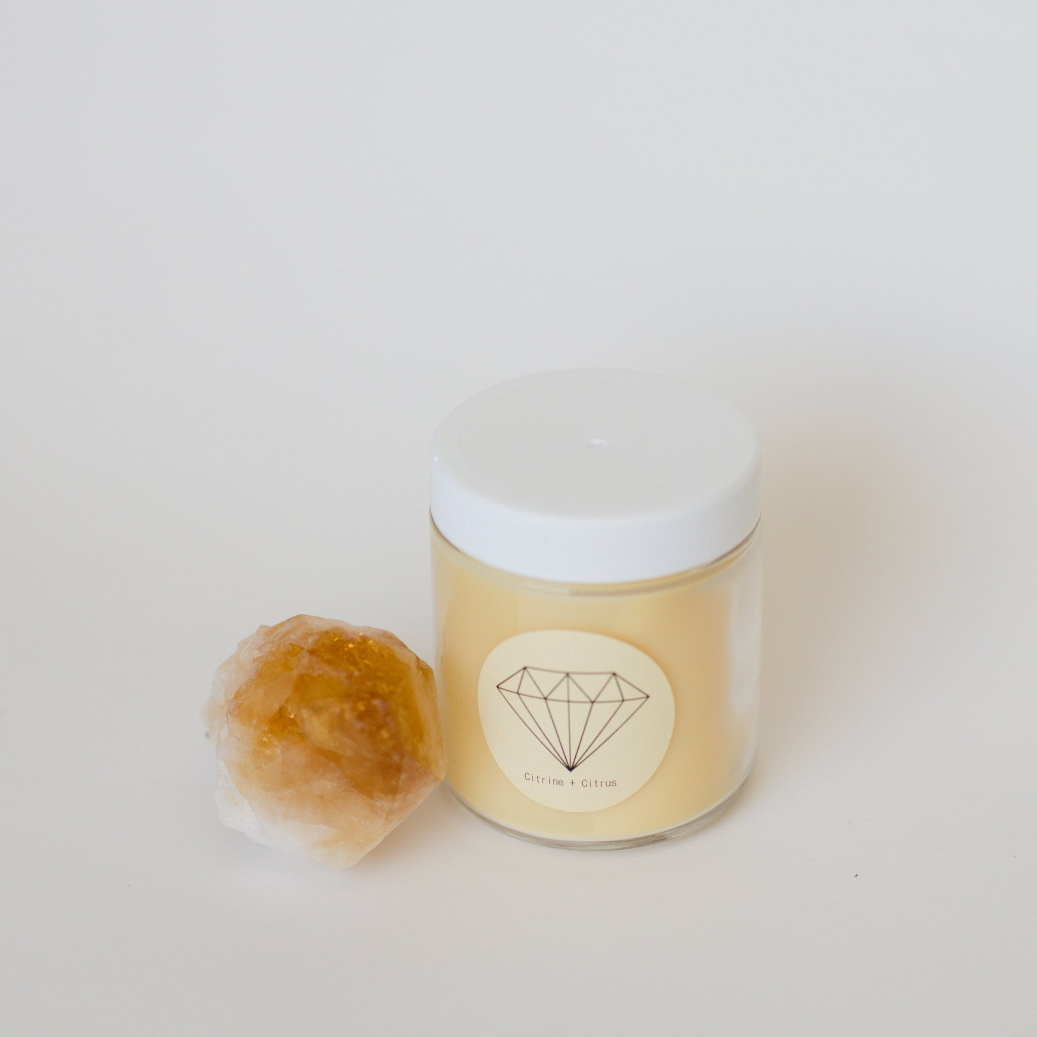 CITRINE + CITRUS {100% soy crystal candle}