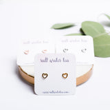 PETITE HEART EARRINGS