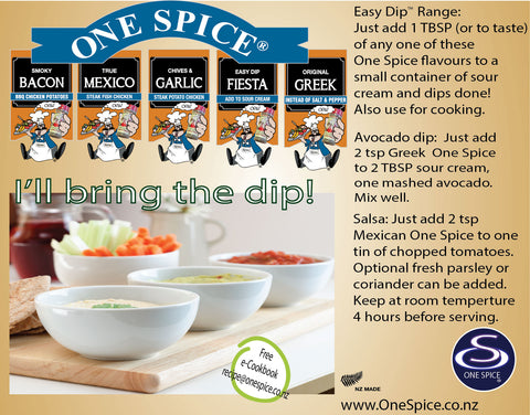3 - Easy Dip range - just add to sour cream