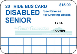 Senior/Disabled 20 Ride Pass