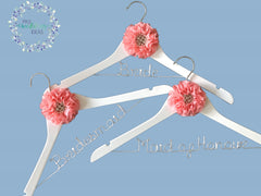 3 Pcs Set Custom Bridal Party Coat Hanger Parisian Style 06