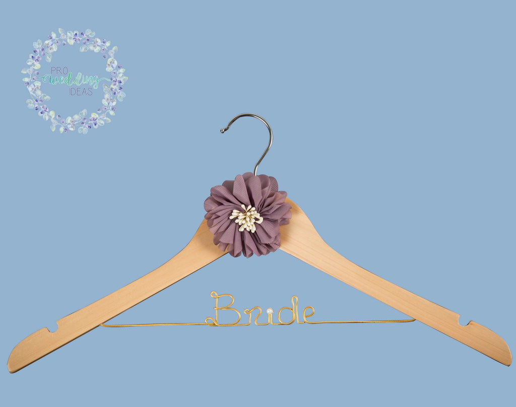 Bride Personalised Wedding Coat Hanger Starburst Style 03