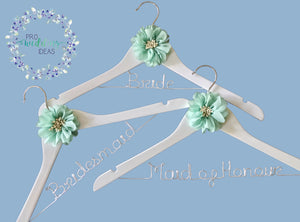 3 Pcs Set Bridal Party Coat Hanger Starburst Style 06