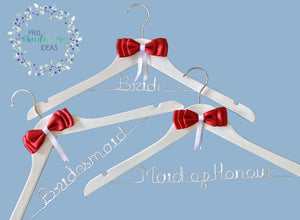 Bridal Hanger with Bow 3 Pcs Set Small Bow Style 06