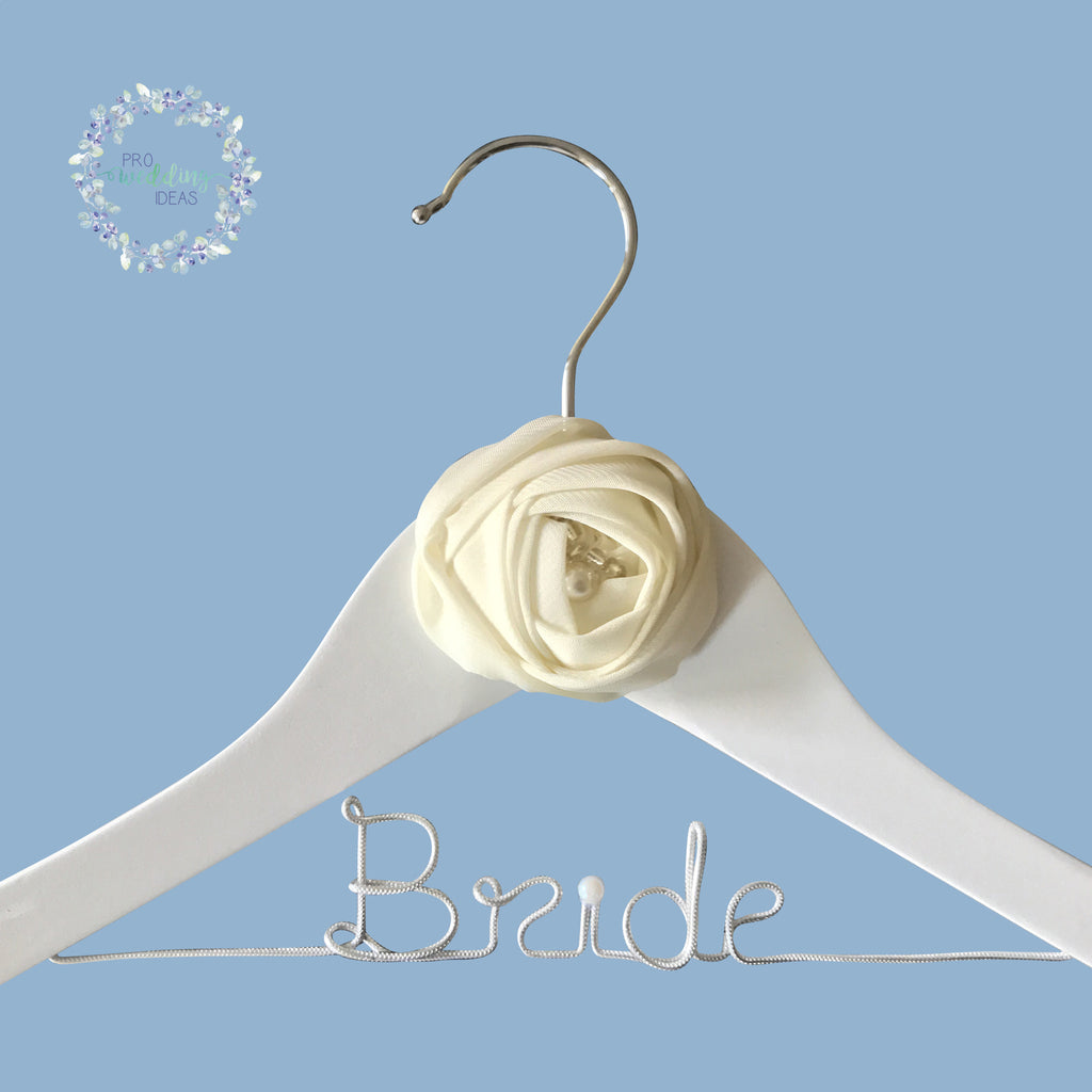 Bride - Bridal Wooden Coat Hanger Rose Style 06