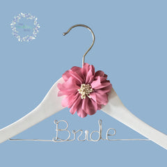 Bride Personalised Wooden Coat Hanger Starburst Style 06