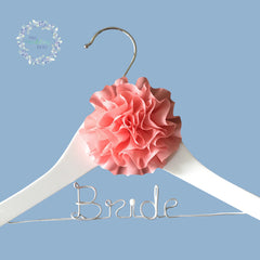 Bride Custom Wooden Coat Hanger Sweet Style 06