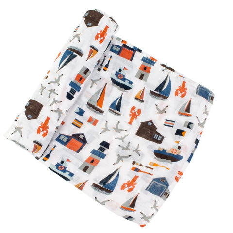 Nautical Bamboo Swaddle