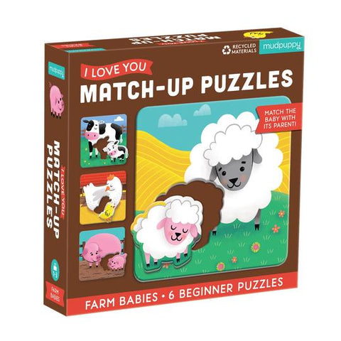 Love Match Farm Babies Puzzle