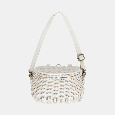Mini chari bag white