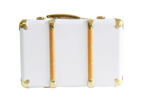 Mini Vintage Brief Case White