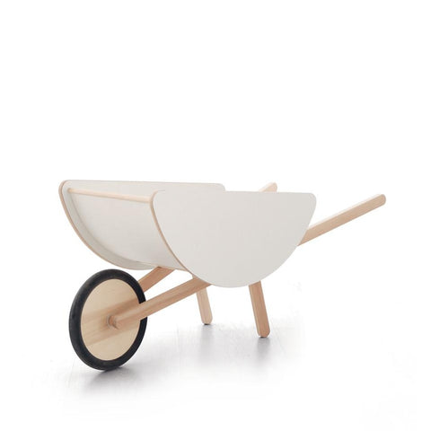 White Toy Wheelbarrow