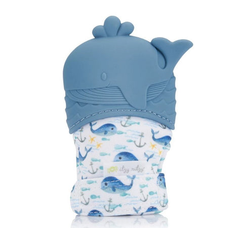 Whale Teething Mitts
