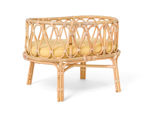 Rattan Crib Yellow
