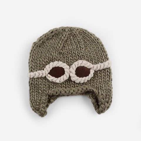 Aviator goggles hat