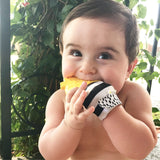 Pineapple teething mitts