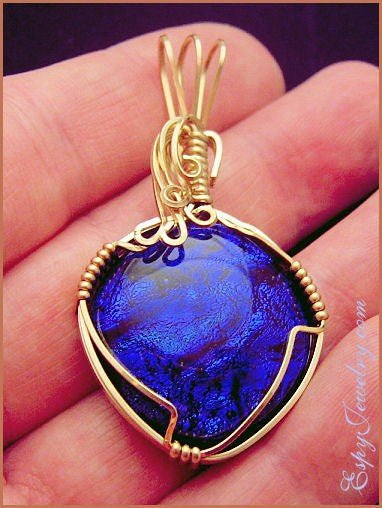 Dichroic Glass Pendant / Slide - PND-0798