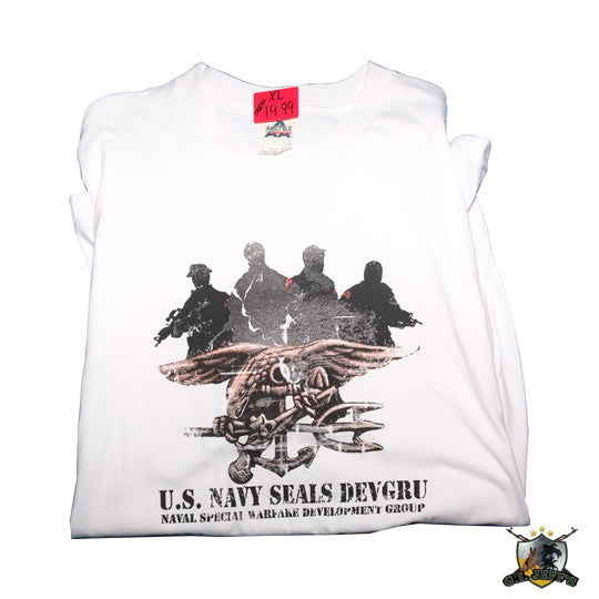U S  NAVY SEALS DEVGRU T-shirt - White