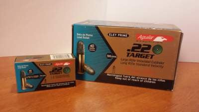 Aguila 22LR Ammunition Target Competition 40 Grain Lead Round Nose 50 rounds